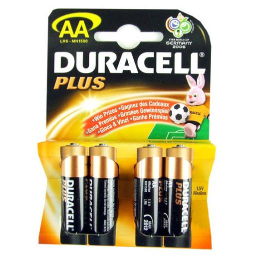 Duracell - Pack 4 pilas AA Duracell Plus