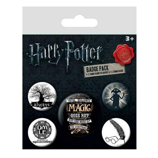 Harry Potter - Pack 5 Chapas Symbols