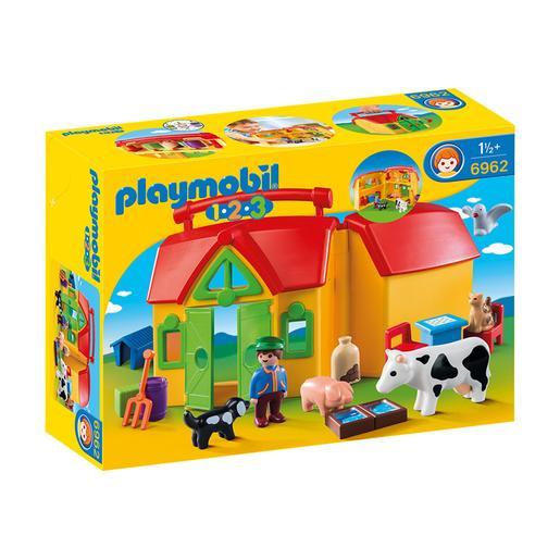 Playmobil - 1.2.3 Granja Maletín - 6962