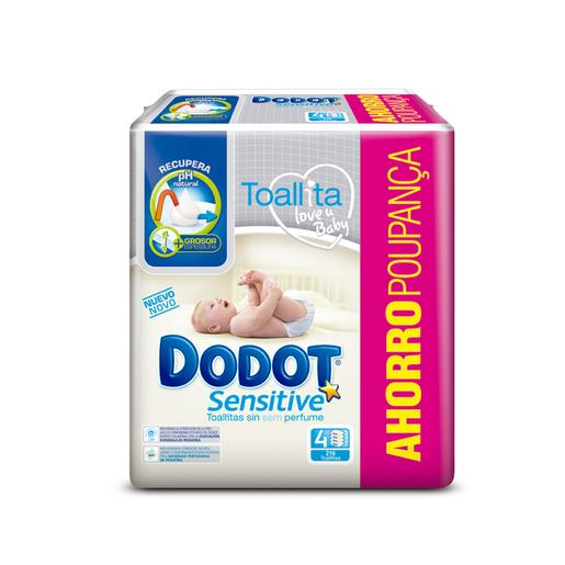 Dodot - Toallitas Sensitive 4 Pack 216 Unidades