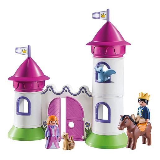 Playmobil 1.2.3 - Castillo con Torre Apilable - 9389