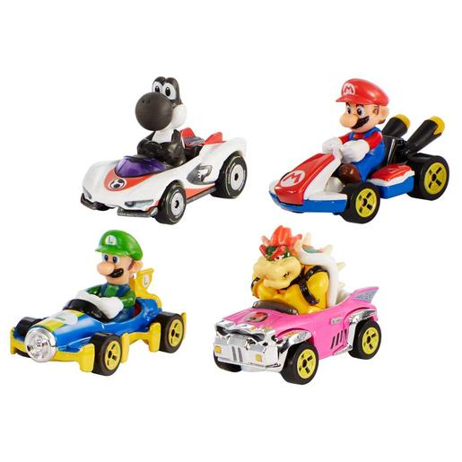 Hot Wheels - Mario Kart pack 4 minivehículos