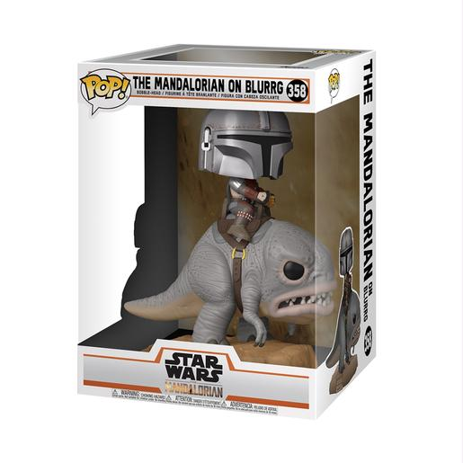Star Wars - The Mandalorian en Blurrg - Figura Funko POP
