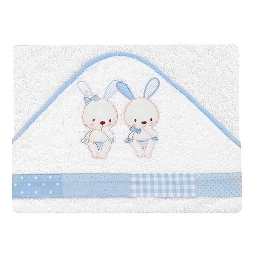 Capa de Baño Conejos Blanca