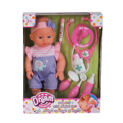 Set Muñeco Bebé Cuidados Médicos