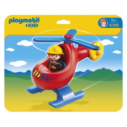Playmobil 1.2.3 - Helicóptero de Rescate - 6789