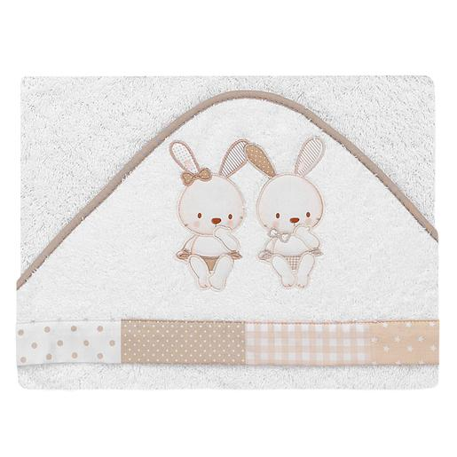 Capa de Baño Conejos Beige