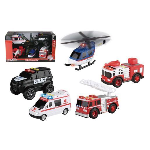 EZ Drive - Set 5 Vehículos de Emergencias con Luz y Sonido