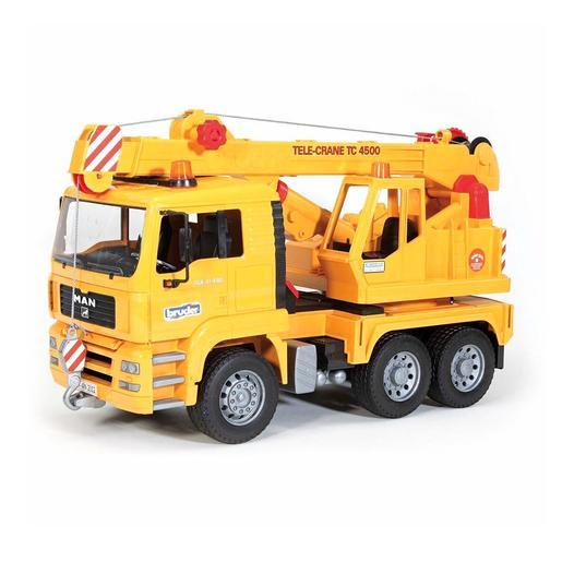 Bruder - Camión con Grúa MAN Amarillo