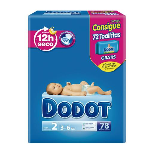 Dodot - Pañales T2 (3-6 kg) 78 Unidades