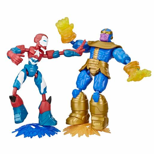 Los Vengadores - Pack 2 Figuras Bend and Flex
