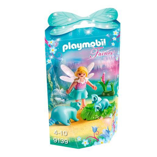 Playmobil - Niña Hada Con Mapaches - 9139
