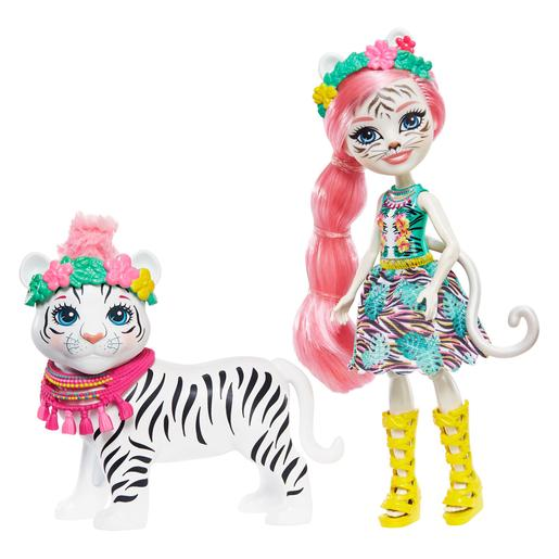 Enchantimals - Muñeca Tadley Tiger con Mascota