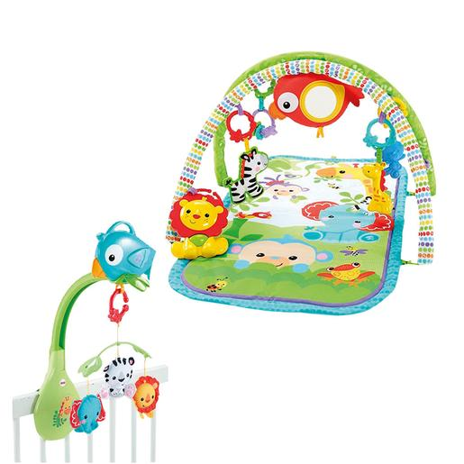 Fisher Price - Manta y Móvil Rainforest