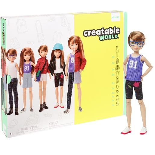 Creatable World - Muñeco Personalizable con Pelo Cobrizo Liso