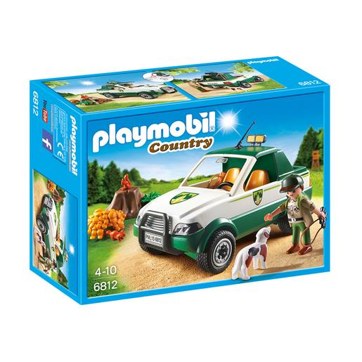 Playmobil - Vida en el campo Guardabosques con Pick Up - 6812