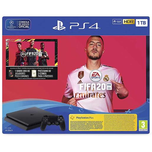 PS4 - Pack Consola PS4 Slim 1TB con FIFA 20 y 14 días PS PLUS
