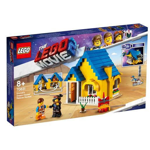 LEGO La Película 2 - Casa de los Sueños Cohete de Rescate de Emmet - 70831