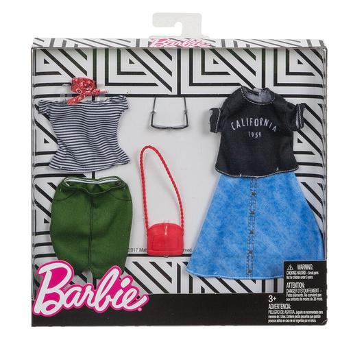 Barbie - Camiseta Rayas y Camiseta California 1959 - Pack 2 Modas