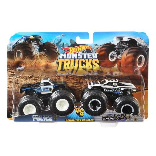 Hot Wheels - Pack 2 Vehículos Doble Demolición Monster Trucks (varios modelos)