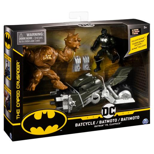 Batman - Pack Batmoto con 2 Figuras de Acción