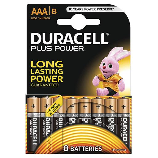 Duracell - Pack 8 Pilas AAA Plus Power