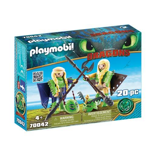 Playmobil - Chusco y Brusca con Traje Volador - 70042