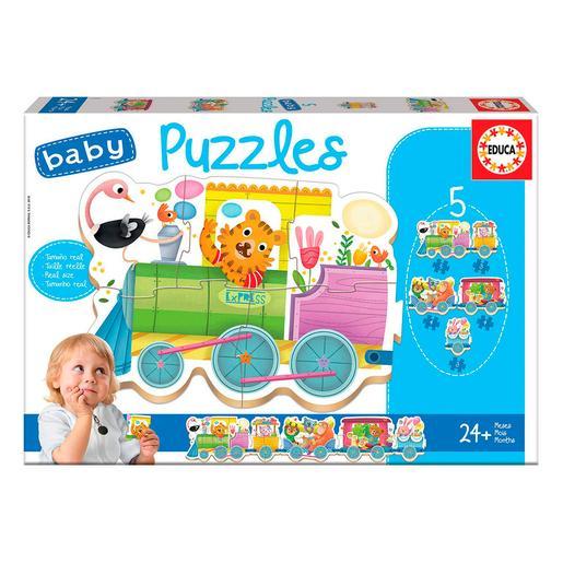 Educa Borrás - Tren de los Animales - Baby Puzzle