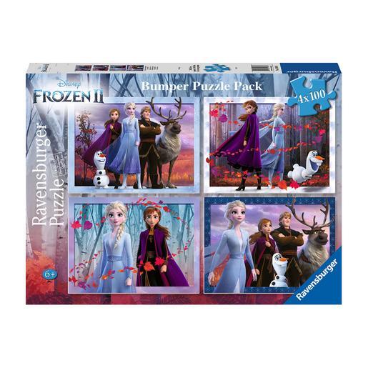 Ravensburger - Frozen - Pack Puzzles 4x100 Piezas Frozen 2