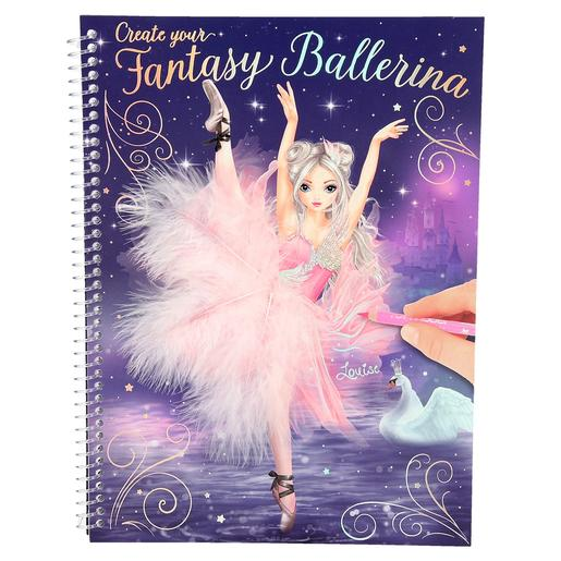 TOP Model - Cuaderno para Colorear Fantasy Model - Bailarina