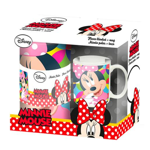 Minnie Mouse - Set de Manta y Taza