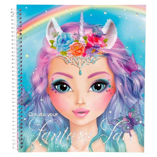 TOP Model - Cuaderno para Colorear Fantasy Model - Crea tu Rostro