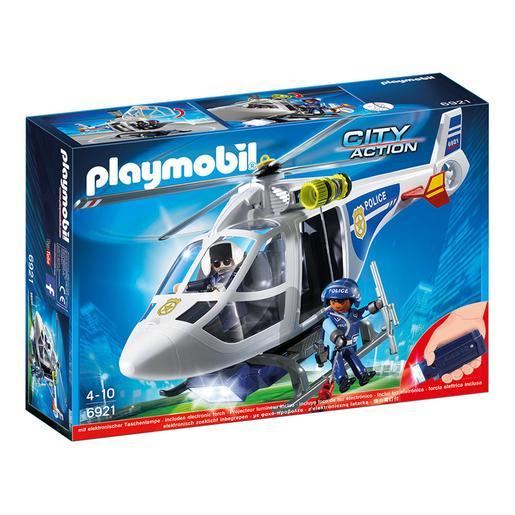 Playmobil - Helicóptero de Policía con Luces LED - 6921