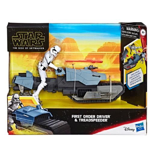 Star Wars - Conductor de la Primera Orden y Treadspeeder Galaxy of Adventures