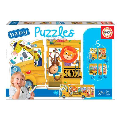 Educa Borrás - Bus Animalitos - Baby Puzzle