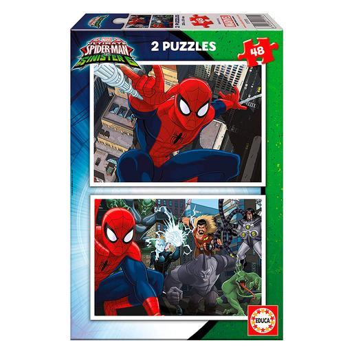 Educa Borras - Spider-Man vs Sinister 6 - Puzzle 2x48 Piezas
