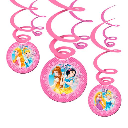 Princesas Disney - Pack 6 Decoraciones Colgantes