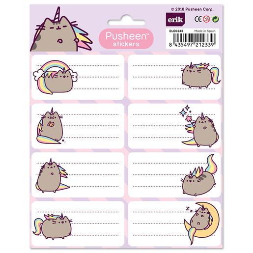 Pusheen - Etiquetas Escolares Pusheenicorn
