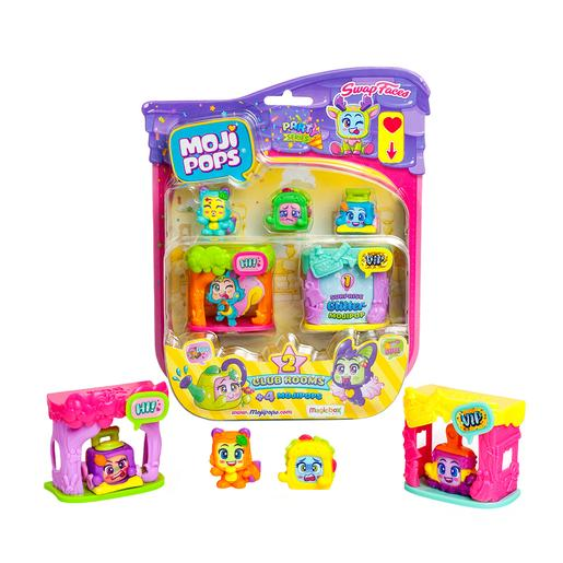 MojiPops Party - Blister 4 Figuras Club Room (varios modelos)