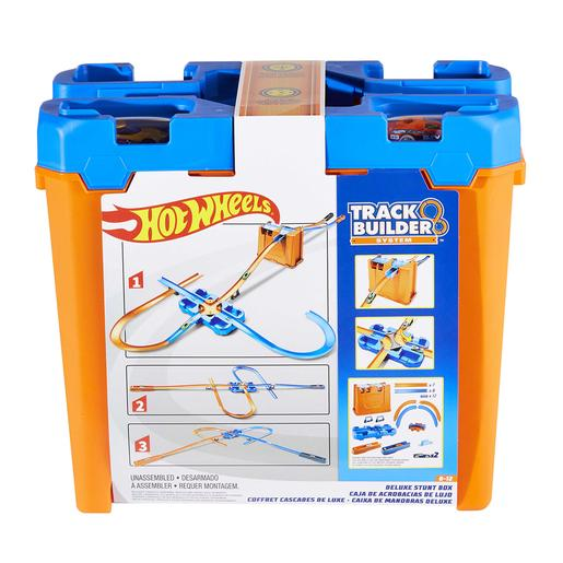 Hot Wheels - Truck Builder Caja de Acrobacias Deluxe
