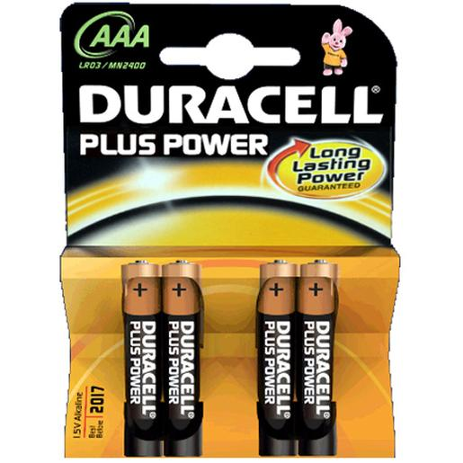 Duracell - Pack 4 Pilas AAA Plus Power
