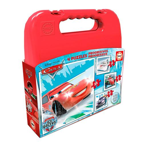 Educa Borrás - Cars Ice Racers - Maleta Puzzles Progresivos