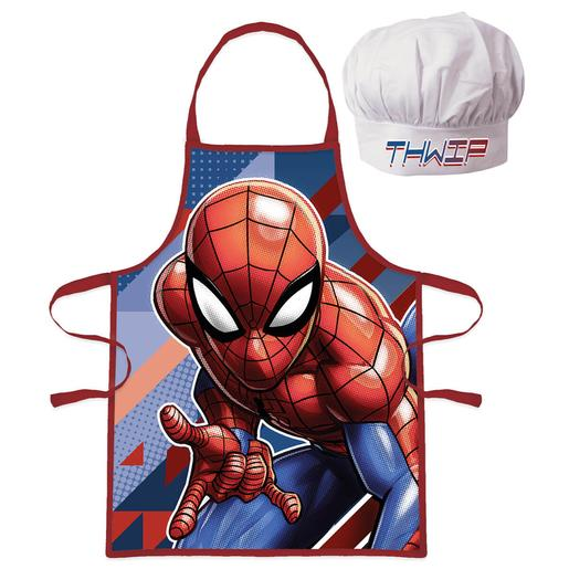 Spider-Man - Set Delantal y Gorro 4-6 meses