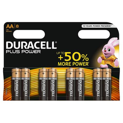 Duracell - Pack 8 Pilas AA Plus Power