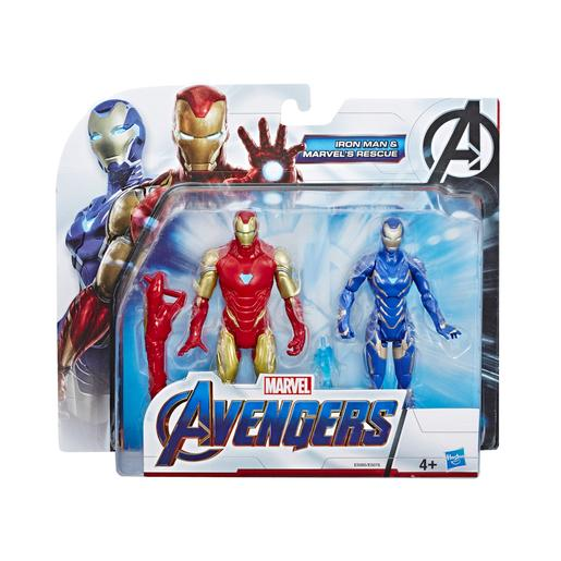 Los Vengadores - Iron Man y Marvel's Rescue - Pack 2 Figuras