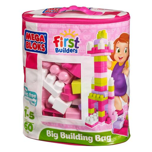 Mega Bloks - Bolsa Maxi 60 Piezas Rosa