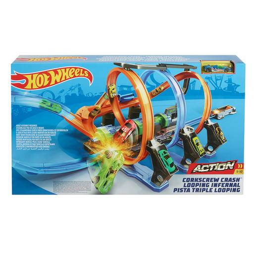 Hot Wheels - Pista de Coches Triple Looping