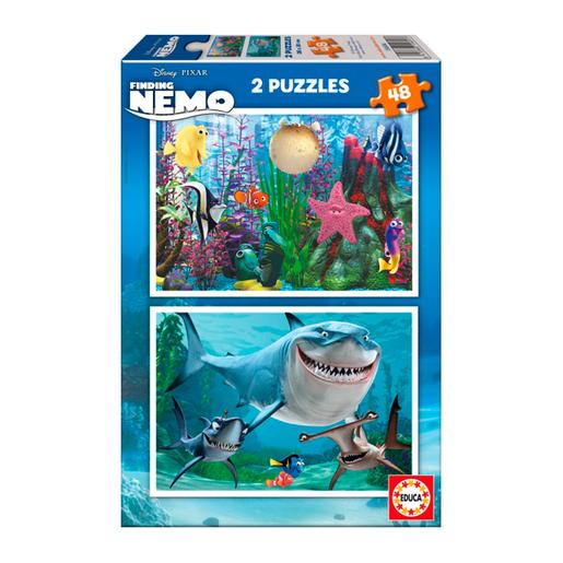 Educa Borras - Buscando a Nemo - Puzzle 2x48 Piezas