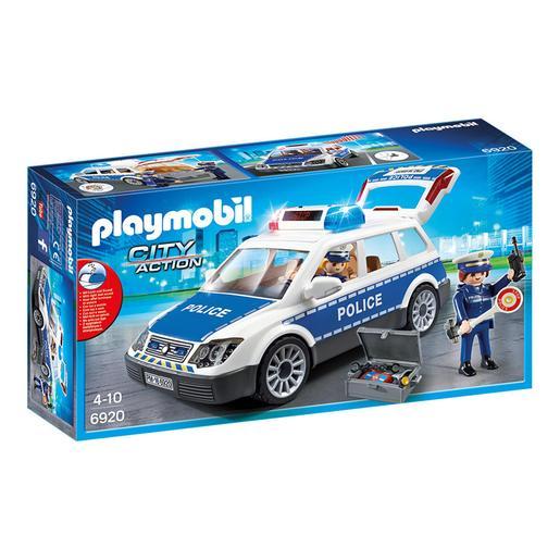 Playmobil - Coche Policía con Luces y Sonido - 6920