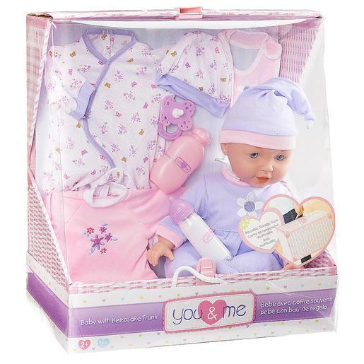 You & Me - Bebé 35 cm en Cesta (varios modelos)